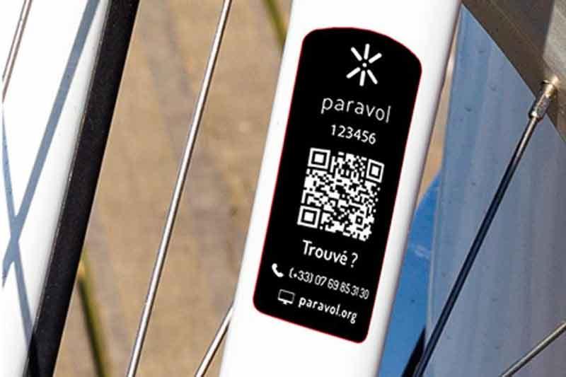 Marquage Et Identification De Votre Bikle Avec PARAVOL